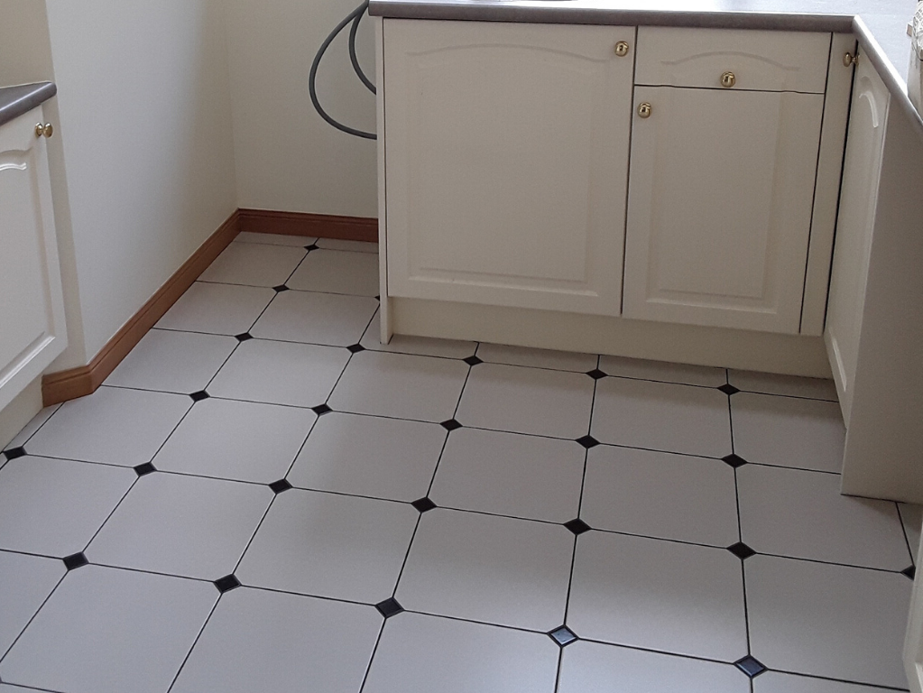 Laundry floor tiling